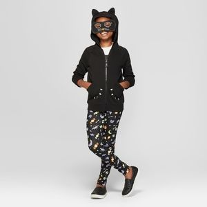 New Girls Halloween Cat Mask Hoodie